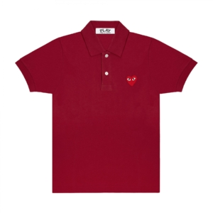 Red Play Comme des Garçons Polo Shirt