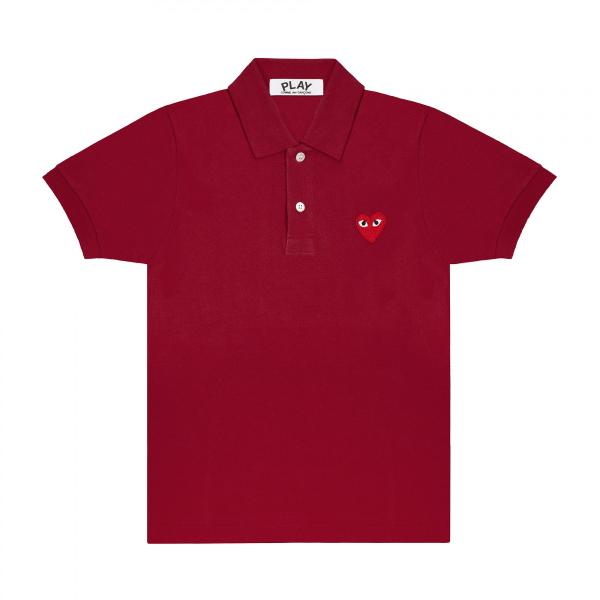 Red Play Comme des Garçons Polo Shirt